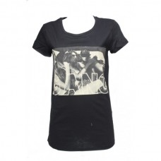 T-shirt Ghetto - Zwart